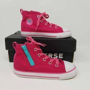 NWB Converse All Star Hi Tops Little Girls 10 D2F